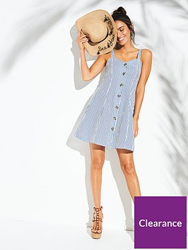 v-by-very-button-through-sweetheart-neck-beach-dress