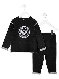 river-island-mini-boys-knit-ri-sweat-set