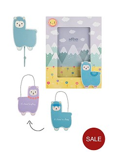 sass-belle-sass-and-belle-little-llama-photoframe-wall-plaque-and-wall-hook-set