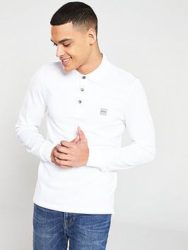 boss-long-sleeve-slim-fit-polo-shirt-white