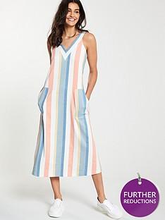 boss-anamy-sleeveless-stripe-midi-dress-patterned