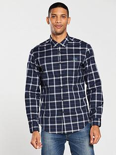 boss-checked-shirt-navy-check