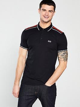boss-contrast-shoulder-polo-shirt-black