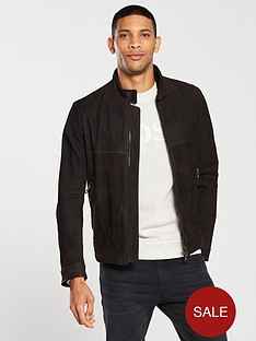 boss-casual-leather-jacket-brown