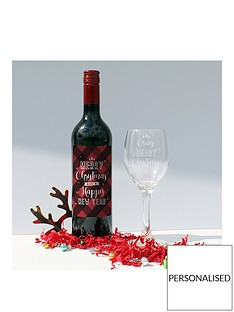 merry-christmas-bottle-of-wine-and-personalised-glass-in-a-hamper-giftbox-red-and-white-option