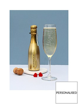 personalised-champagne-glass-with-anbsp200mlnbspbottega-silver-gold-and-rose