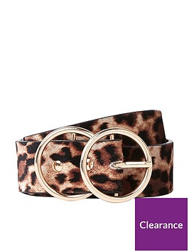 river-island-river-island-double-ring-leopard-print-belt