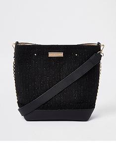 river-island-boucle-trim-bucket-black