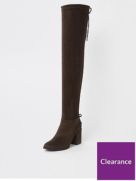 river-island-river-island-tie-back-knee-high-boot-brown