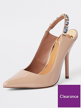river-island-river-island-wide-fit-slingback-court-shoe-nude