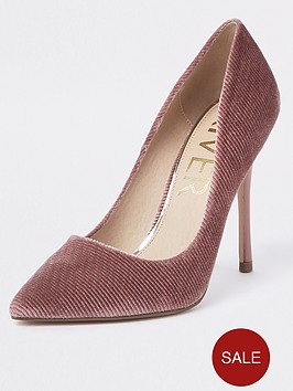 river-island-cord-court-shoe-pink