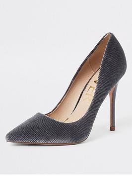 river-island-cord-court-shoe-grey