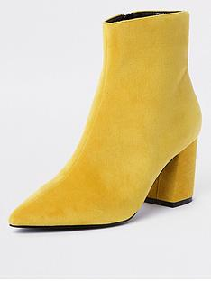 river-island-river-island-block-heel-point-boots-yellow