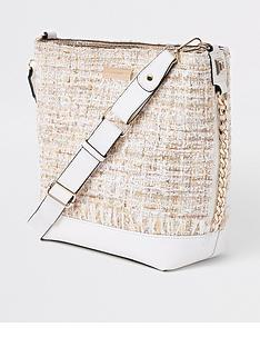 river-island-river-island-boucle-trim-bucket-bag-cream