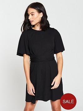 v-by-very-tie-waist-skater-dress-black