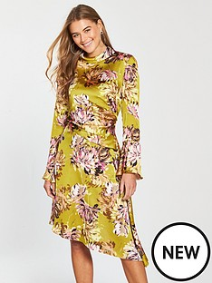 v-by-very-high-neck-satin-midi-dress-printed