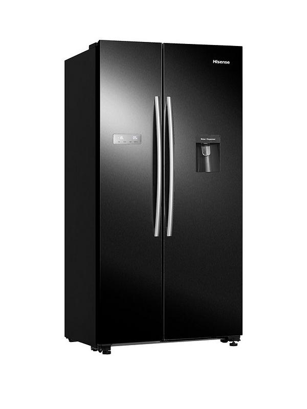 RS741N4WB11 90cm Wide, Total No Frost, American-Style Fridge Freezer with  Non-Plumbed Water Dispenser - Black