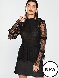 v-by-very-lace-ruffle-top-black