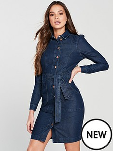 v-by-very-denim-tie-dress-indigo-wash