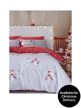 catherine-lansfield-christmas-unicorn-double-duvet-cover-set