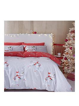 catherine-lansfield-christmas-unicorn-king-size-duvet-cover-set