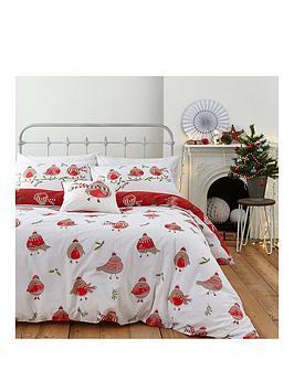 catherine-lansfield-robins-christmas-duvet-cover-set