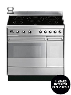 smeg-sy92ipx8-90cm-symphony-stainless-steel-dual-cavity-pyrolytic-induction-range-cooker
