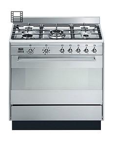 smeg-suk91mfx9-90cmnbspwide-concert-stainless-steel-single-cavity-dual-fuel-range-cooker