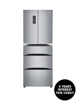 lg-lg-gb6140pzqv-multi-door-fridge-freezer-steel