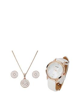 evoke-evoke-rose-gold-plated-sterling-silver-swarovski-crystal-stud-earrings-pendant-watch-set