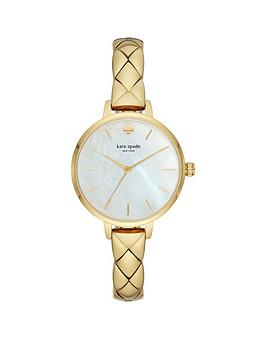 kate-spade-new-york-ksw1471-metro-mother-of-pearl-and-gold-detail-dial-gold-stainless-steel-quilted-effect-half-bangle-ladies-watch