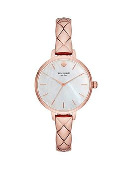 kate-spade-new-york-ksw1466-metro-mother-of-pearl-dial-rose-gold-quilted-effect-stainless-steel-half-bangle-ladies-watch