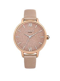 lipsy-rose-gold-glitter-dial-nude-pu-strap-ladies-watch