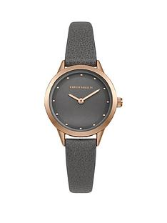 karen-millen-karen-millen-grey-and-rose-gold-crystal-set-grey-leather-strap-ladies-watch