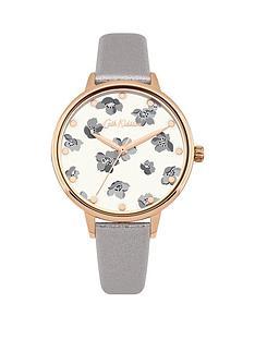 cath-kidston-grove-ditsy-gloss-floral-print-grey-metallic-pu-strap-ladies-watch