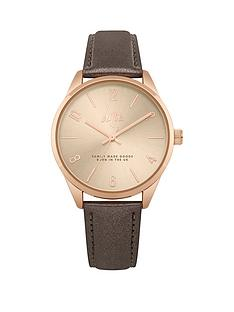 hype-holographic-rose-gold-dial-grey-pu-strap-watch