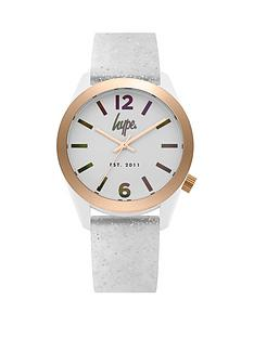 hype-holographic-rainbow-and-rose-gold-dial-glitter-silicone-strap-watch