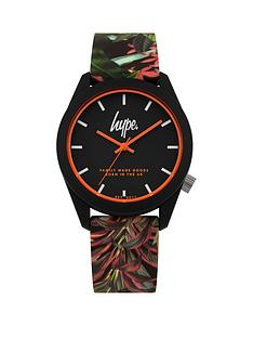 hype-black-dial-jungle-print-silicone-strap-watch