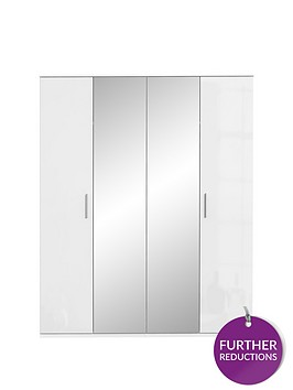 westburynbsphigh-gloss-4-door-mirrored-wardrobe