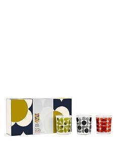 orla-kiely-olive-shadow-flower-candle-set