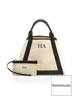 ha-designs-personalised-initial-black-slouch-canvas-bag