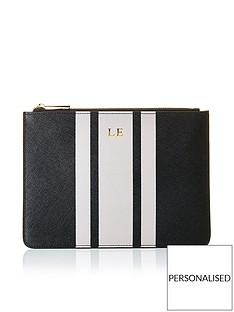 ha-designs-personalised-initial-pouch-black-stripe-bagnbsp--monochrome