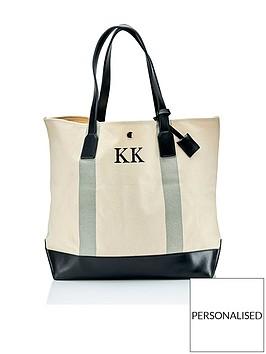 ha-designs-personalised-initial-canvas-black-stripe-bag