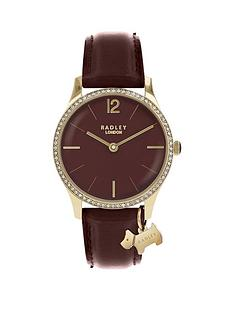 radley-radley-port-jewelled-dial-with-gold-dog-charm-and-port-leather-strap-ladies-watch