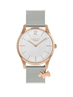 radley-radley-rose-gold-dog-charm-dial-silver-stainless-steel-strap-ladies-watch