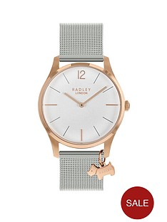 radley-radley-rose-gold-dog-charm-dial-silver-stainless-steel-strap-ladies-watch