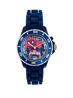 spiderman-ultimate-spiderman-printed-dial-blue-silicone-strap-kids-watch