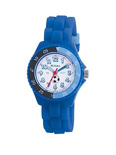 tikkers-tikkers-white-and-blue-football-print-time-dial-blue-silicone-strap-kids-watch