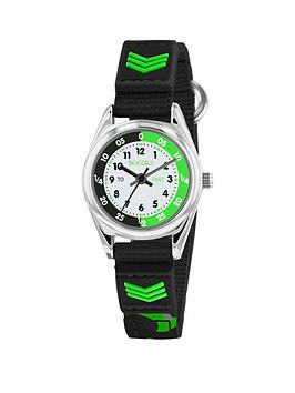 Tikkers Tikkers Tikkers White, Black And Green Time Teller Dial Black  ... Picture