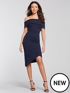 michelle-keegan-bardot-asymmetric-hem-bodycon-dress-navy
